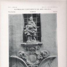 Arte: FOTOTIPIA ORIGINAL DE 1905. REMATE. BARCELONA. IGLESIA DEL HOSPITAL DE SANTA CRUZ. PUERTA DE ENTRADA. Lote 26674834