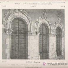 Arte: AUTOTIPIA ORIGINAL DE 1905. PUERTA. TARRASA. CASA CONSISTORIAL. LUIS MOCUNILL.. Lote 21397336