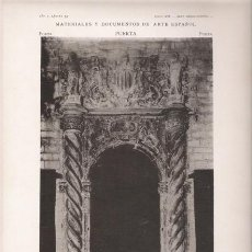 Arte: FOTOTIPIA ORIGINAL DE 1905. PUERTA. BARCELONA. CASA CONSISTORIAL. SALÓN DE CIENTO. PUERTA INTERIOR.. Lote 25467269