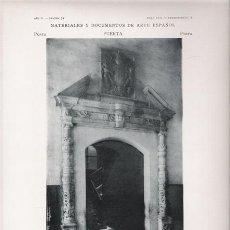 Arte: FOTOTIPIA ORIGINAL DE 1905. PUERTA. BARCELONA. CASA CONSISTORIAL. PUERTA DE ESCALERA INTERIOR.. Lote 24591125
