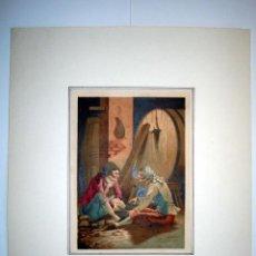 Arte: EN LA BODEGA - LAMINA (FINALES SIGLO XIX). Lote 17605195