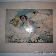 Arte: EL BESO - LAMINA (FINALES SIGLO XIX). Lote 17605327