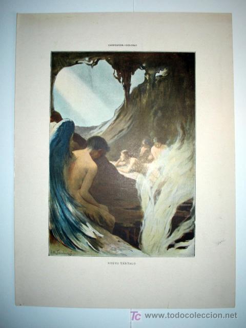 NUEVO TANTALO - LAMINA (FINALES SIGLO XIX) (Arte - Láminas Antiguas)