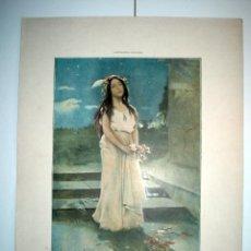 Arte: EL AMOR INMORTAL - LAMINA (FINALES SIGLO XIX). Lote 17605435