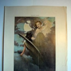 Arte: LAS DOS ALMAS - LAMINA (FINALES SIGLO XIX). Lote 17605493