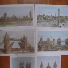 Arte: 6 LÁMINAS OLD LONDON / B. SMITH * LONDRES *. Lote 17851058