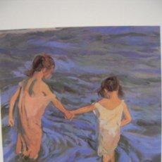 Arte: NIÑAS EN EL MAR / JOAQUÍN SOROLLA - PINACOTECA SALVAT. Lote 17930600