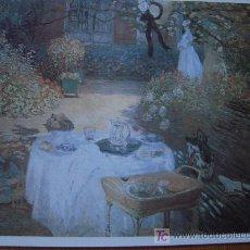 Arte: LE DEJEUNER ( EL DESAYUNO ) / CLAUDE MONET - PINACOTECA SALVAT. Lote 17930682