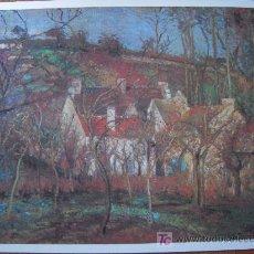 Arte: LES TROITS ROUGES ( LOS TECHOS ROJOS) / CAMILLE PISSARRO - PINACOTECA SALVAT. Lote 17930725