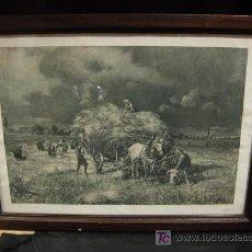Arte: LIQUIDACION CUADRO CON LAMINA DE MOTIVOS CAMPESTRES. Lote 189807373