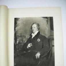 Arte: LÁMINA CON GRABADO DE SIR THOMAS LAWRENCE . RETRATO DE LORD BATHURST . 37 X 50 CMS. Lote 18437733