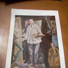 Arte: 'LOS HERMANOS SOLANA', POR VÁZQUEZ DÍAZ. LÁMINA 16 X 24,5 CM.. Lote 20799377