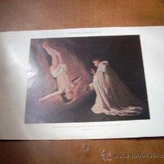 Arte: 'APARICIÓN DE SAN PEDRO APÓSTOL A SAN PEDRO NOLASCO', POR ZURBARÁN. LÁMINA 16 X 24,5 CM.. Lote 20799378