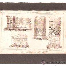 Arte: ** MAGNIFICO GRABADO FRANCES ORIGINAL, AÑO:1850 MONUMENTOS ROMANOS **. Lote 27413444