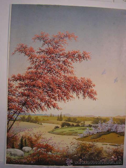 reproduccion de un cuadro de j. nuñez paisaje - Comprar Láminas ...