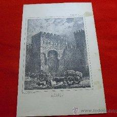Arte: TOLEDO. PUERTA DE VISAGRA. AÑO 1888.. Lote 25265808