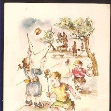 Arte: LÁMINA ORTIZ VALIENTE * MOLINILLOS Y DIABLOS * LOS NIÑOS EN ESPAÑA Y SUS JUEGOS. Lote 21096794