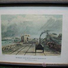 Arte: (ANTIGUA LAMINA FERROBIARIA) DE DUBLIN AND KINGSTOWN RAILWAY (TREN ANTIQUISIMO). Lote 21564730