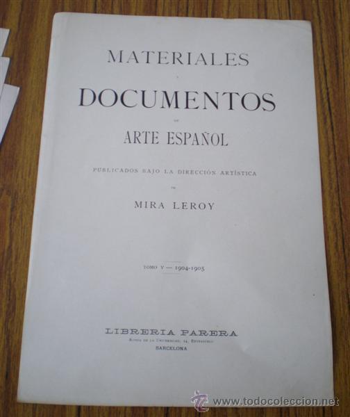 27 LAMINAS .. MATERIALES DOCUMENTOS DE ARTE ESPAÑOL .. ROMÁNICO – CONTEMPORÁNEO - GÓTICO 1904-5 (Arte - Láminas Antiguas)