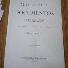 Arte: 27 LAMINAS .. MATERIALES DOCUMENTOS DE ARTE ESPAÑOL .. ROMÁNICO – CONTEMPORÁNEO - GÓTICO 1904-5. Lote 22110767