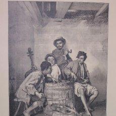 Arte: JÓVENES HÚNGAROS, CUADRO DE J. VALENTINY 42 CM X 30 CM. Lote 27461681