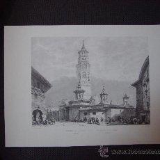 Arte: LAMINA DE LA IGLESIA DE SAN PABLO EN ZARAGOZA. Lote 36511243