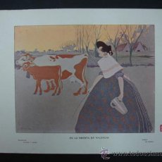 Arte: COLECCIÓN BLANCO Y NEGRO. 'EN LA HUERTA DE VALENCIA'. DIBUJO DE MARCO. 20,5 X 28,5 CM.. Lote 23421348