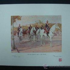 Arte: COLECCIÓN BLANCO Y NEGRO. 'EN EL DESFILE DEL 2 DE MAYO'. DIBUJO DE ENRIQUE ESTEVAN. 20,5 X 28,5 CM.. Lote 23421429