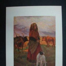Arte: COLECCIÓN BLANCO Y NEGRO. 'EN LA MONTAÑA'. DIBUJO DE M. SANTAMARÍA. 20,5 X 28,5 CM.. Lote 23421541