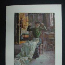 Arte: SUPLEMENTO DE BLANCO Y NEGRO Nº 820. 'EL FIN DE LA TAREA'. DIBUJO DE ANGEL HUERTAS. 20,5 X 28,5 CM.. Lote 23421659