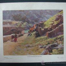 Arte: COLECCIÓN BLANCO Y NEGRO. 'ALREDEDORES DE TOLEDO'. DIBUJO DE A. ANDRADE. 20,5 X 28,5 CM.. Lote 23421673
