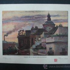 Arte: BLANCO Y NEGRO. 'IGLESIA DE LA MAGDALENA EM SEVILLA'. DIBUJO DE GARCÍA Y RODRÍGUEZ. 20,5 X 28,5 CM.. Lote 23421737