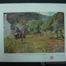 Arte: BLANCO Y NEGRO. 'LA PRIMAVERA EN LA SIERRA DE CÓRDOBA'. DIBUJO DE LUIS BERTODANO. 20,5 X 28,5 CM.. Lote 23421748