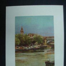 Arte: COLECCIÓN BLANCO Y NEGRO. 'SEVILLA. MUELLE DEL BARRANCO'. DIBUJO DE GARCÍA RODRÍGUEZ. 20,5 X 28,5 CM. Lote 23421781