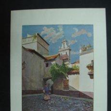 Arte: COLECCIÓN BLANCO Y NEGRO. 'SEVILLA CALLEJÓN DE SANTA MARTA'. DIBUJO DE G. RODRIGUEZ. 20,5 X 28,5 CM.. Lote 23421875
