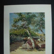 Arte: COLECCIÓN BLANCO Y NEGRO. 'EL ABREVADERO'. DIBUJO DE GARCIA RODRIGUEZ. 20,5 X 28,5 CM.. Lote 23421918
