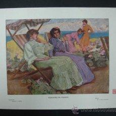 Arte: COLECCIÓN BLANCO Y NEGRO. 'TOMANDO EL FRESCO'. DIBUJO DE A. DIAZ HUERTAS. 20,5 X 28,5 CM.. Lote 23421957