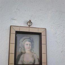 Arte: PEQUEÑA LAMINA MARCO MADERA. Lote 23782498