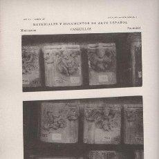 Arte: FOTOTIPIA ORIGINAL DE 1906. BARCELONA. CANECILLOS ANTIGUA CASA CONSISTORIAL. AÑO VI LAMINA 28. Lote 24246331