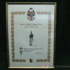 Arte: DIPLOMA DE AGRADECIMIENTO-EXPOSICION NACIONAL DE MINIATURAS MILITARES. Lote 24473784