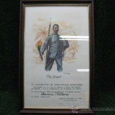 Arte: DIPLOMA DE AGRADECIMIENTO-MEMORIA MILITAR DE ESPAÑA-1986. Lote 24474255