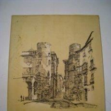 Arte: BARCELONA HISTORICA - LUIS REÑE - 11 LAMINAS ILUSTRADAS. Lote 24590202