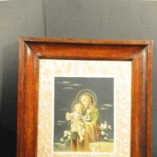 Arte: LÁMINA EN MARCO DE CAOBA. Lote 24826939