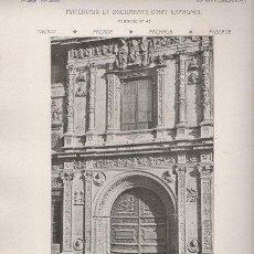 Arte: FOTOTIPIA ORIGINAL DE 1908. SEVILLA. CASA CONSISTORIAL. DETALLE DE LA FACHADA LATERAL. Lote 25341840