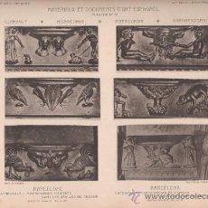 Arte: FOTOTIPIA ORIGINAL DE 1908. BARCELONA. CATEDRAL. MISERICORDIAS ESCULPIDAS EN LOS ASIENTOS DEL CORO.. Lote 25342082