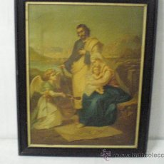 Arte: CUADRO RELIGIOSO SAGRADA FAMILIA. Lote 26994117
