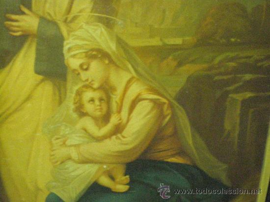 Arte: cuadro religioso sagrada familia - Foto 2 - 26994117