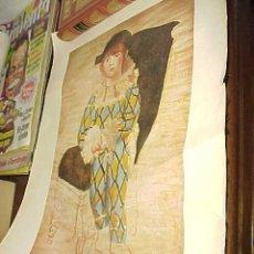 Arte: PAUL EN ARLEQUIN. PICASSO. EDITADO POR LABORATORIO PREPARADOR DEL PAIDOTERMIN DESCONGESTIVO LIQUIDO.. Lote 25763099