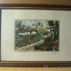 Arte: RINCONES DE CANTABRIA. 50 X 37.FIRMADA POR CHANETE ( LUCIANO GARCÍA ) TIRADA 50 EJEMPLARES. LEER.. Lote 27354714