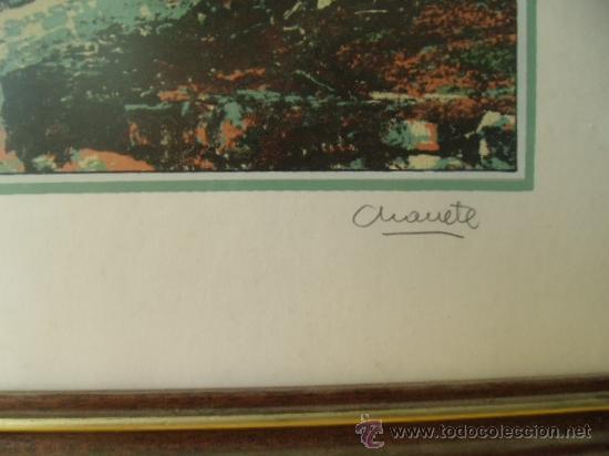 Arte: RINCONES DE CANTABRIA. 50 X 37.FIRMADA POR CHANETE ( LUCIANO GARCÍA ) TIRADA 50 EJEMPLARES. LEER. - Foto 3 - 27354714
